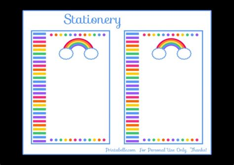 printable rainbow stationery 91 best images about kinder rainbow on pinterest the