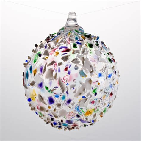 best color ornaments multicolored speckle glass ornament boyce glass
