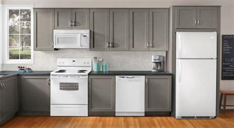 kitchen cabinet warehouse manassas va white appliances grey cabinets neutral backsplash quot colorful quot tile floor kitchen