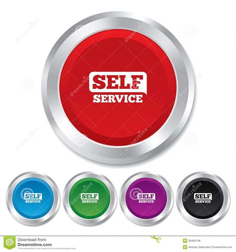 self a service self service sign icon maintenance button royalty free stock photos image 36495148