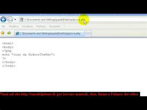 tutorial php youtube tutorial 4 imparare php youtube