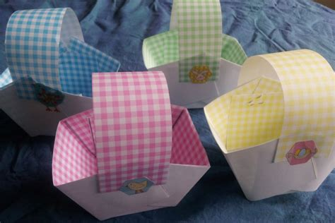 How To Make Paper Basket For - diy paper easter baskets brisbane