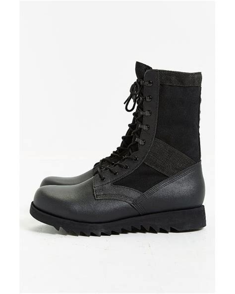 rothco leather ripple sole jungle boot in black for lyst