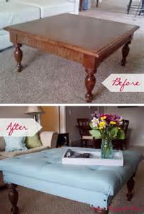 Diy Tufted Coffee Table Diy Tufted Ottoman From A Coffee Table Sublime