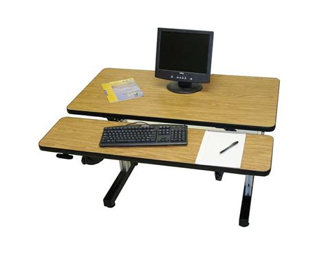 dual surface hand crank adjustable height desks