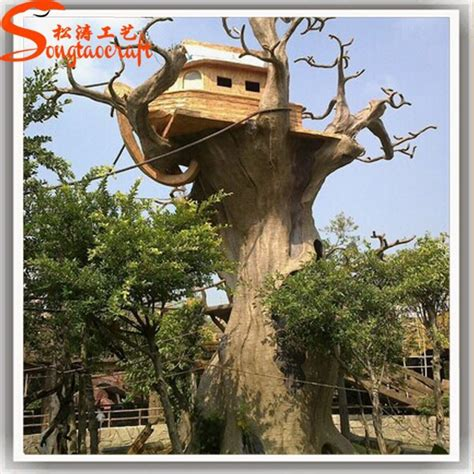 Decorative Tree Stumps For Sale by New Products 2015 China Supplier Artificial Fiberglass Tree Trunks For Sale House Shaped