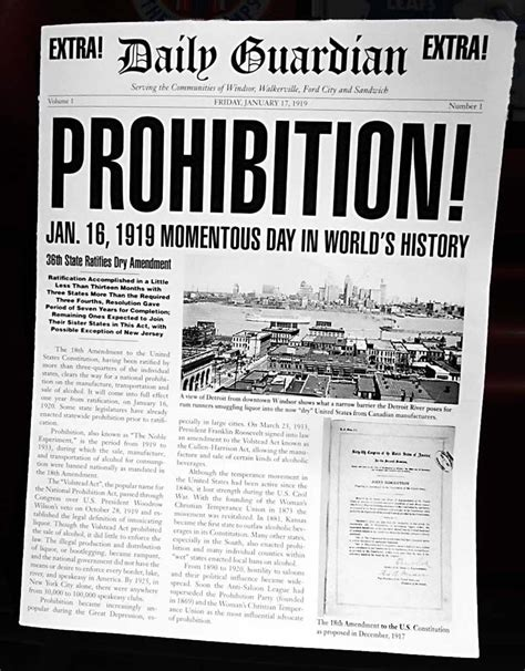 Prohibition Act Begins 1920s Newspapers Entry 5 Pinterest History 1920s And Newspaper 1920s Newspaper Template