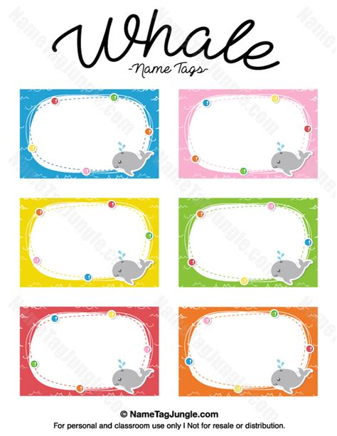 printable name tags pdf free printable whale name tags the template can also be