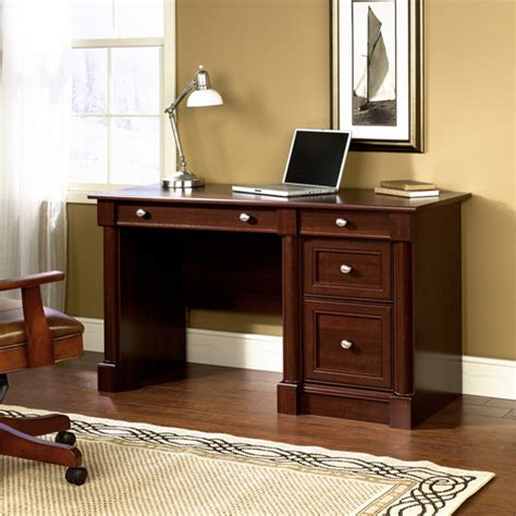 cherry wood computer desk sauder palladia computer desk finishes walmart