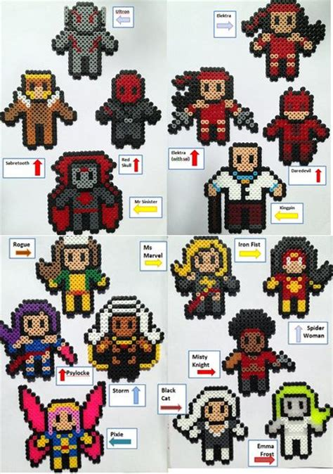 hama marvel choose 3 marvel heroes perler hama bead figures see