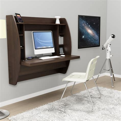 Small Floating Desk Stylish Floating Desk With Storage Home Designing