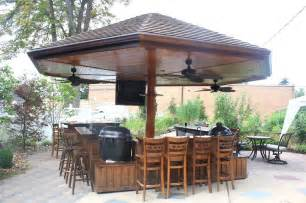 Backyard Bar Grill Handmade Primo Grill Outdoor Kitchen And Bar By Deck Kitchen Custommade
