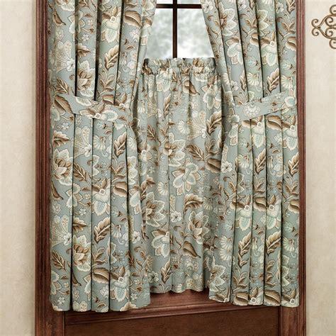short length curtains valerie jacobean floral short length window treatment