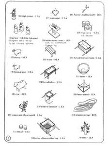 tabernacle instructions kit parts continued