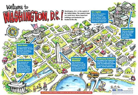 map of dc monuments the world s catalog of ideas