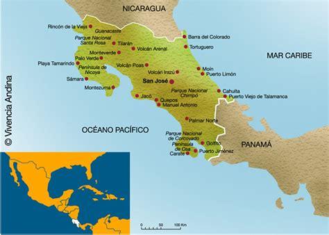 imagenes satelitales costa rica mapa de costa rica vivencia andina