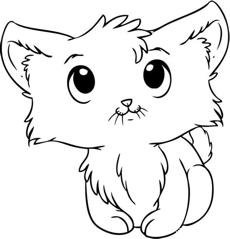 Galerry coloring pages cute kittens