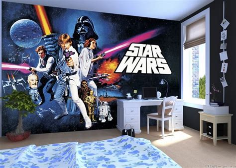 Star Wars Wall Murals star wars room decor curious ways to make kid s bedroom look awesome