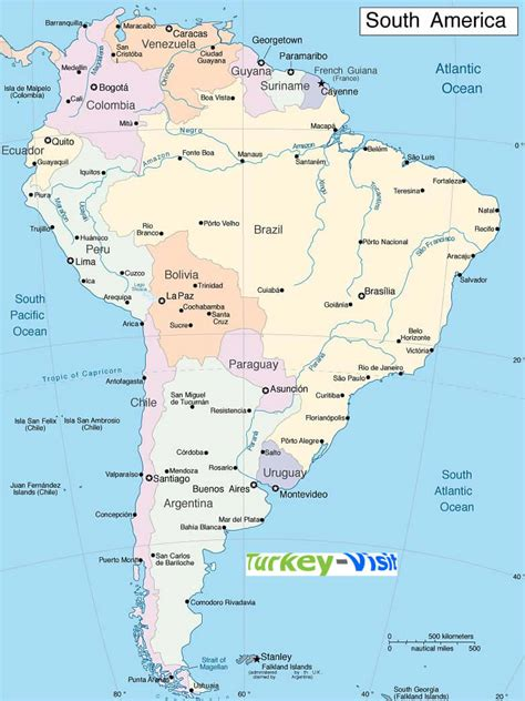 map south usa cities south america map