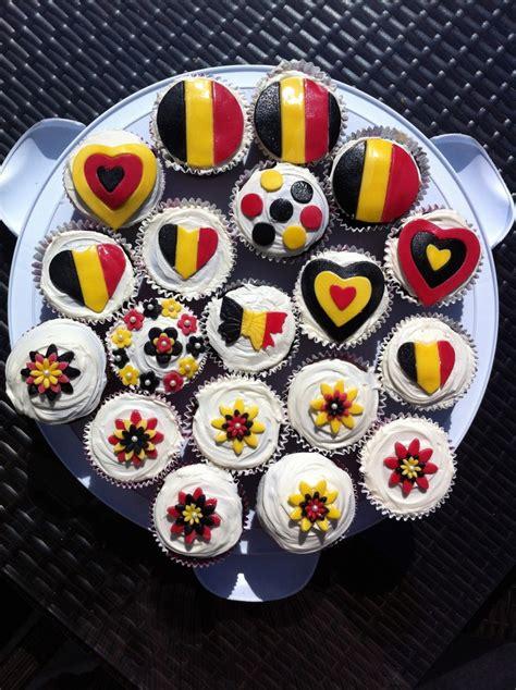 belgium themed cupcakes   expat party cakes pinterest belgium cupcake  parties