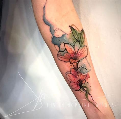watercolor flower tattoos best 25 flower watercolor ideas on