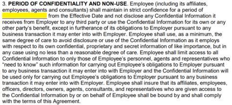 employee  disclosure agreement nda template eforms