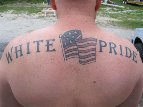 white pride tattoos white pride