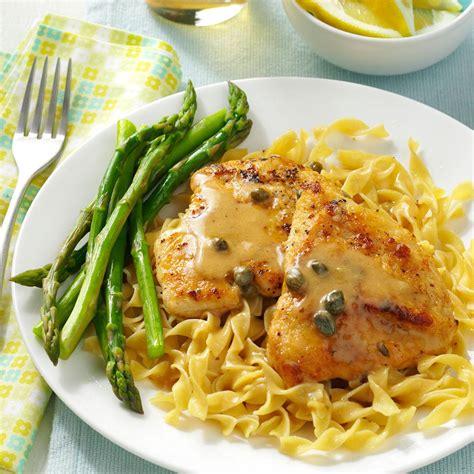 easy chicken piccata recipe taste of home