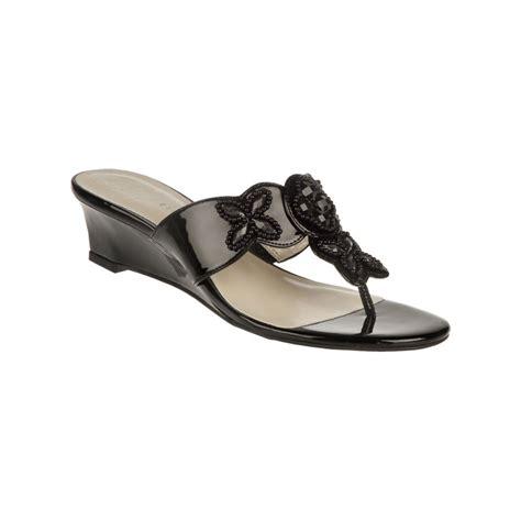 aigner sandals etienne aigner kyros wedge sandals in black lyst