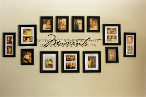 wall frame ideas family picture wall photo collages our family wall