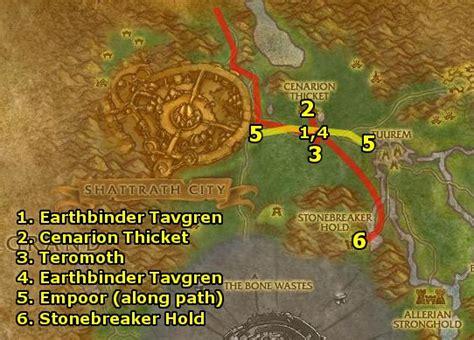Razorthorn Shelf Map by Ding80 S Horde Terokkar Forest Guide Part 1 Level 64