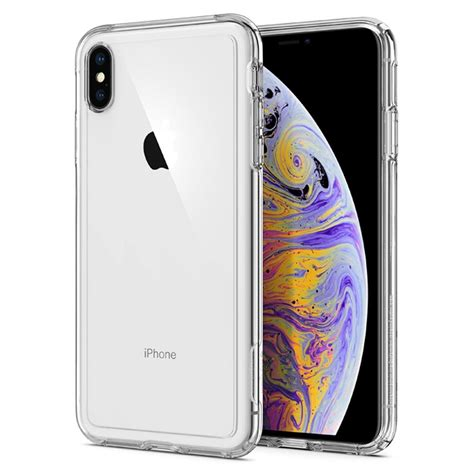 iphone xs max case crystal hybrid spigen
