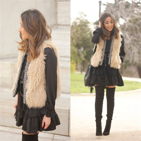 Dress Zara Vest besugarandspice fv zara vest mango boots sheinside