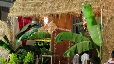 ganpati decoration ideas for home card boards village setting at chandanagar ganesh idol on ganesh