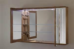 Illuminated Bathroom Cabinets Mirrors Shaver Socket - jupiter solid oak led bathroom cabinet with demister pad sensor amp shaver k83 ebay