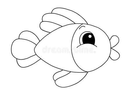 clipart bianco e nero in bianco e nero pesci illustrazione di stock
