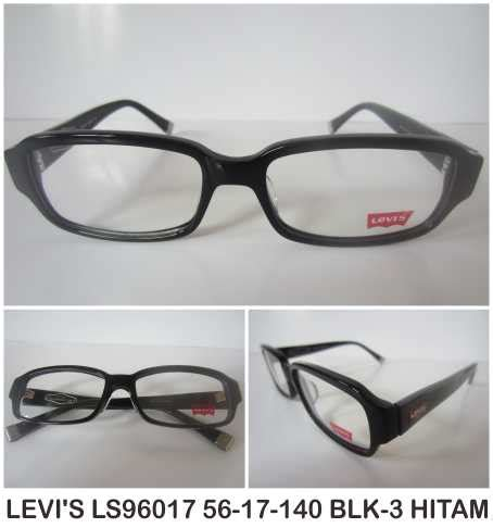 Kacamata Free Lensa Murah Baca Levis Hitam Lensa Anti Radiasi Minus levis ls96017 56 17 140 blk 3 hitam 20120617160430 jual