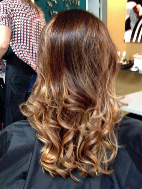 how to do medium length ombre hair caramel ombr 233 on fine medium length hair hair pinterest