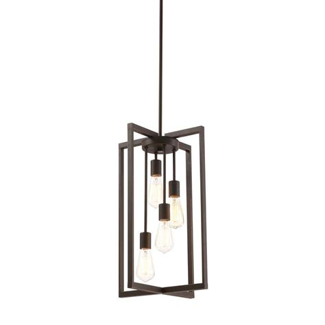 pendant lighting home depot monteaux lighting 4 light rubbed bronze pendant 999