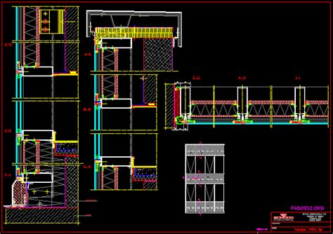 detail carpentry wall curtain dwg plan  autocad
