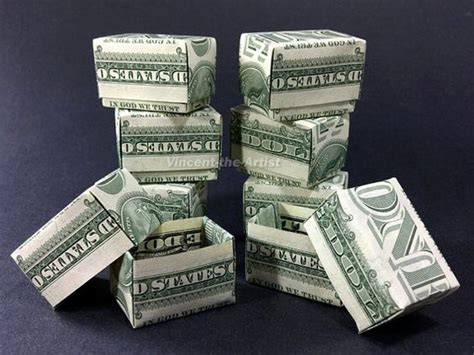 origami money box money origami gift box dollar bill made with real