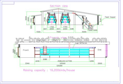 broiler hatchery layout steel metal poultry farm equipment used for half full