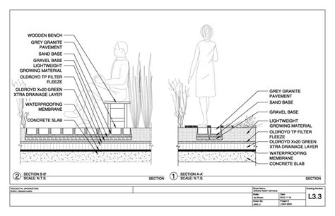 green roof detail section construction detail drawing jing li