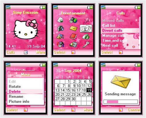 hello kitty cell phone themes pink hello kitty phone theme by orgiast1k on deviantart