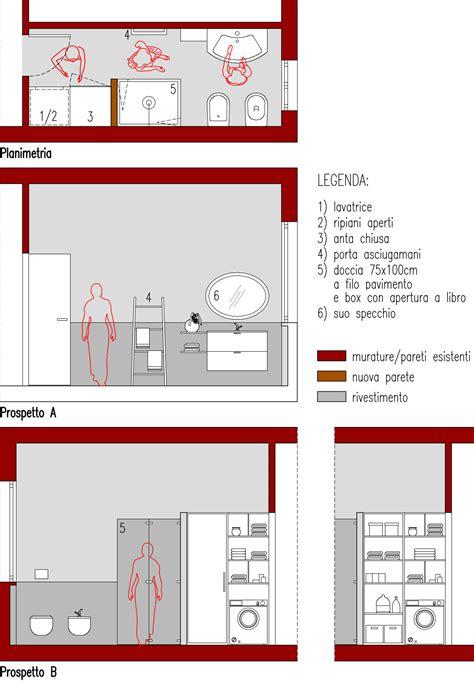 bagno 6 mq progetto 6 mq architettura a domicilio 174