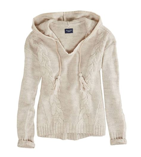 knit hoodie american eagle cable knit sweater hoodie