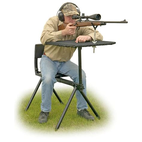 portable shooting bench reviews guide gear portable shooting bench 96055 shooting