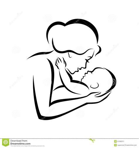 madre e bambino illustrazione vettoriale immagine 51392311