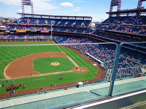 citizens park bank front row of section 331 picture of citizens bank park