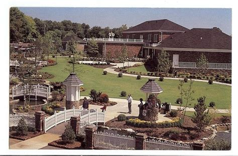 twitty city christmas lights vintage postcard landscaped grounds twitty city gardens hendersonville tn landscaping city